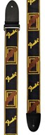 "Fender Strap 2"" Monogrammed Black/Yellow/Brown"
