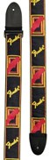 Fender Strap 2 Monogrammed Black/ Yellow/ Red