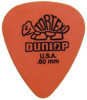 Dunlop 418P .60 Tortex Orange Standard 12/Play Pack Picks