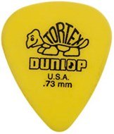 Dunlop 418P .73 Tortex Yellow Standard 12/Play Pack Picks