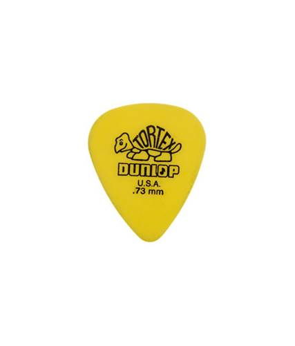 Dunlop 418P .73 Tortex Yellow Standard 12/Play Pack Picks