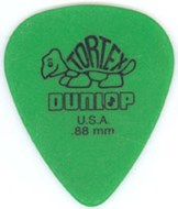 Dunlop 418P .88 Tortex Green Standard 12/Play Pack Picks
