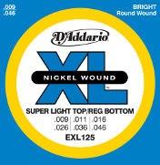 D'Addario EXL125 Super Light Top/Reg Bottom 9-46