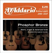 D'Addario EJ15 Extra Light Acoustic 10-47