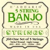 D'Addario J60 Banjo Light 5 String