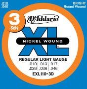 D'Addario EXL110-3D Regular Light Multi Pack 10-46