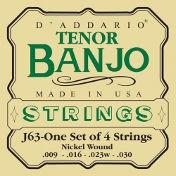 D'Addario J63 Tenor Banjo Nickel