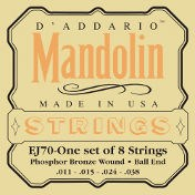 D'Addario EJ70 Mandolin Ball End