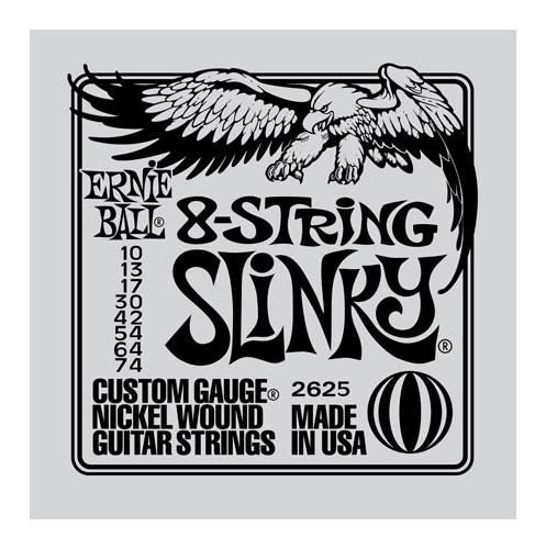 Ernie Ball 2625 8 String Slinky 10-74