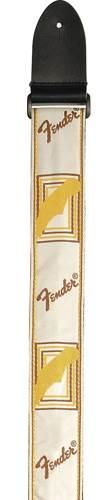 Fender Monogrammed Guitar Strap White/Brown/Yellow