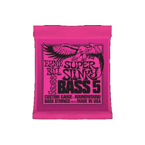 Ernie Ball 2824 Super Slinky 5-String Bass Nickel Wound 40-125