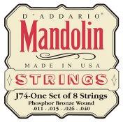 D'Addario J74 Mandolin Phospor Bronze Medium