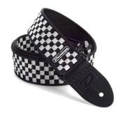 Dunlop D38-31BK Strap Black White Checker