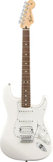 Fender Standard Strat Arctic White HSS RW