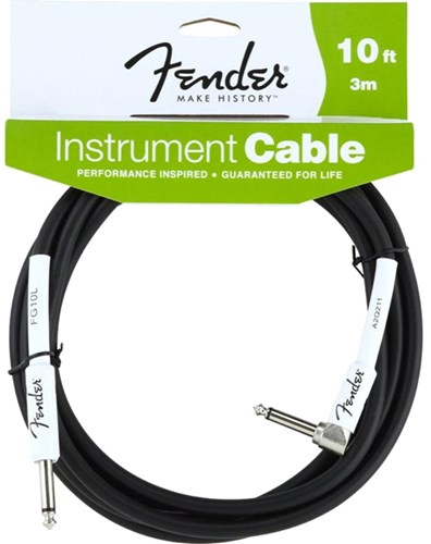Fender 10ft/3m Instrument Performance Cable Angled Black