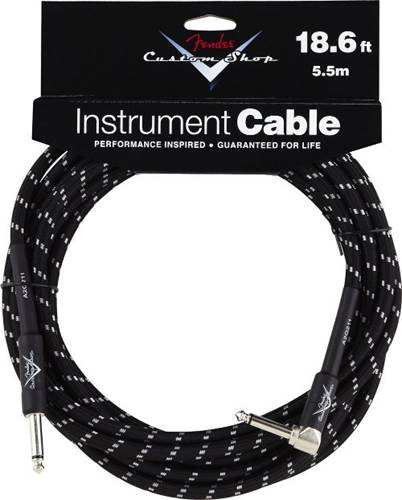 Fender Custom Shop Cable 5.5M Angled Black Tweed