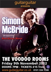 Tickets Simon McBride, Voodoo Rooms 9th November 2012