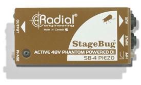 Radial SB-4 Piezo Stagebug DI Box