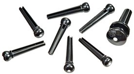 Planet Waves PWPS10 Plastic Bridge Pin Set Ebony