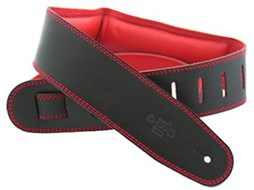 DSL GEG25-15-5 Leather 2.5 Inch Black/Red