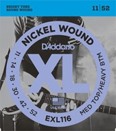 D'Addario EXL116 Medium Top/Heavy Bottom Electric 11-52