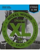 D'Addario EXL117 Medium Top/Extra Heavy Bottom .011-.056