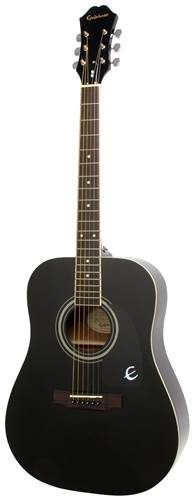 Epiphone DR-100 Ebony Chrome Hardware