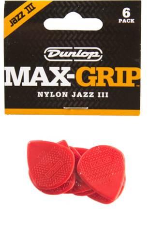 Dunlop 471P3N Nylon Max Grip Jazz III Nylon 6/Play Pack