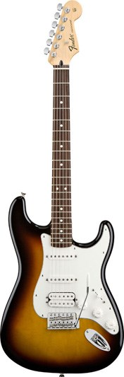 Fender Standard Strat Brown Sunburst HSS RW