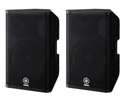 Yamaha DXR-12 Active Loudspeaker (Pair) w/ FREE Stagg SPSQ10 Speaker Stands