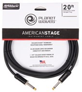 Planet Waves PW-AMSG-20 American Stage Instrument Cable 20ft