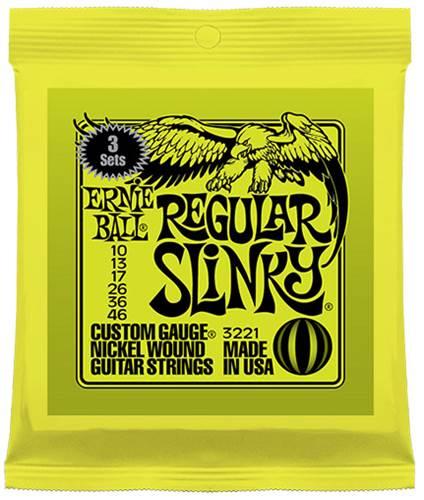 Ernie Ball 3221 Regular Slinky 10-46 3 Pack