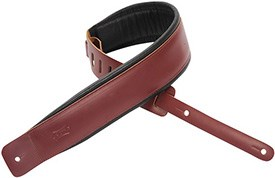 Levy's DM1PD-BRG Leather Padded Strap Burgundy