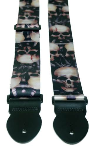 Leathergraft Big Skull Print Strap (XL) 000109