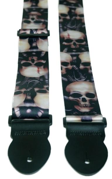 Leathergraft Big Skull Print Strap (XL) 000109