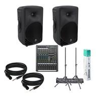 Mackie SRM450 v3 Bundle Inc. ProFX8 V2 Mixer, Speaker Stands and Cables