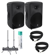 Mackie SRM450 v3 Bundle Inc. Speaker Stands and Cables