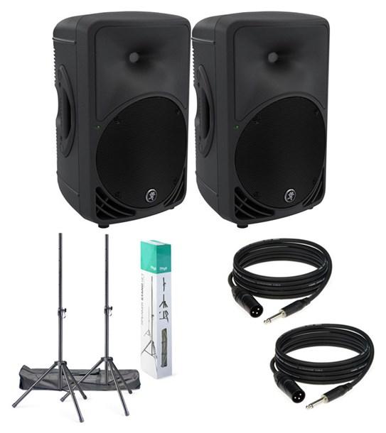 Mackie SRM450 v3 Bundle Inc. Speaker Stands and Cables