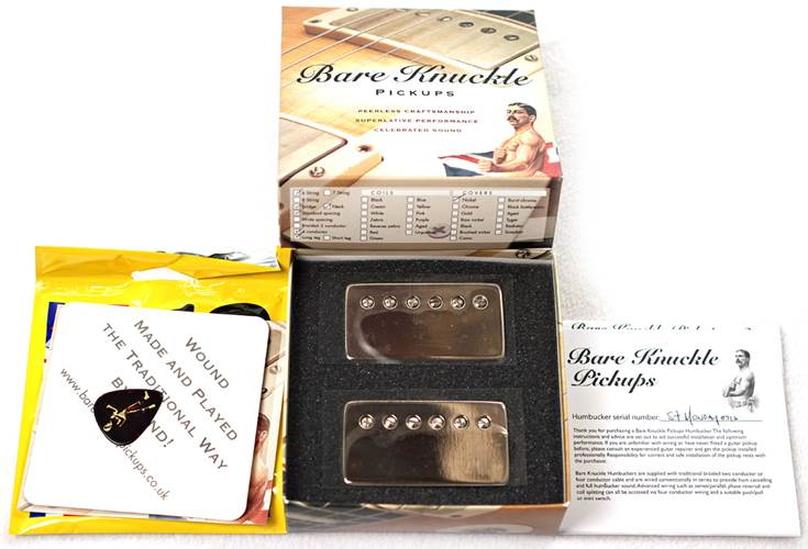 Bare Knuckle Stormy Monday Calibrated Humbucker Set - Standard Spacing 4 Conductor - Long Leg - Potted - Nickel Covered