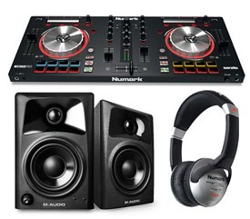 Numark Mixtrack Pro 3 Bundle with Speakers and Headphones
