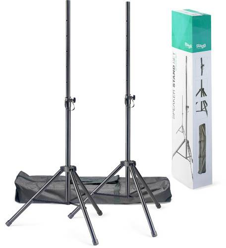 Stagg SPSQ10 Set (Speaker Stand Pair With Bag)