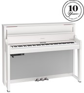 Roland LX-17PW Polished White Digital Piano with Matching RPS-30 Stool