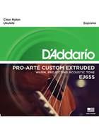 D'Addario EJ65S Set Uke Clear Nylon Soprano Strings