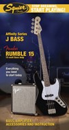 Squier Start Playing Jazz Bass Black Pack With Rumble 15 Amp