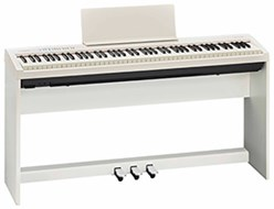 Roland FP-30-WH+P White with Stand and 3-Pedal Unit