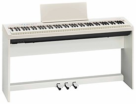 Roland FP-30 White with Stand and 3-Pedal Unit