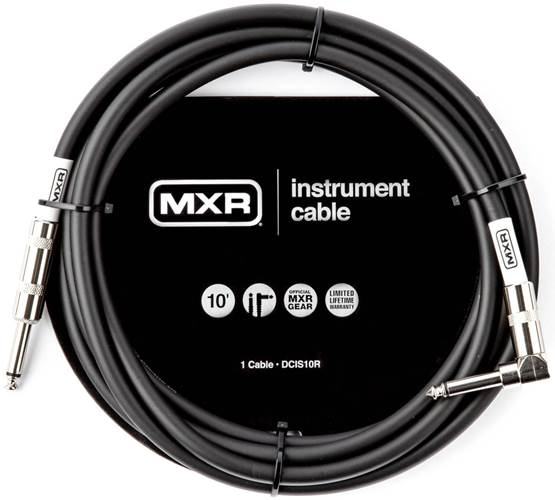 MXR 10ft Standard Right Angle Instrument Cable