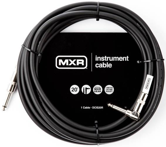 MXR 20ft Standard Right Angle Instrument Cable