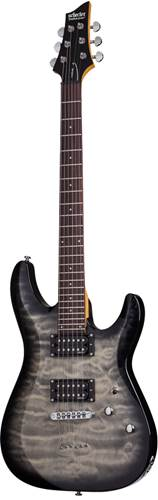 Schecter C-6 Plus Trans Black Burst