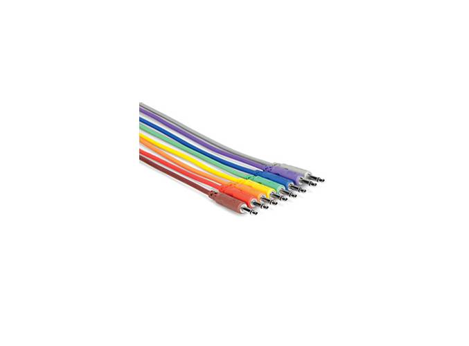 Hosa CMM-830 Eurorack 3.5mm Patch Cable Pack 8 x 12inch